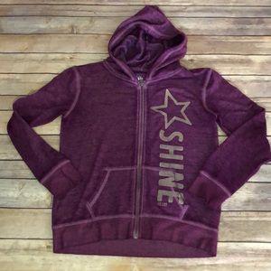 Girl size 8/10 purple zip up hoodie.